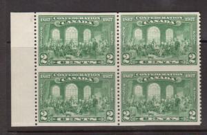 Canada #142c XF Mint Imperf Between Block