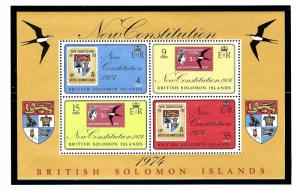 Solomon Is 279a MNH 1974 New Constitution S/S