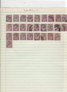 south africa shades cancels stamps ref 11169