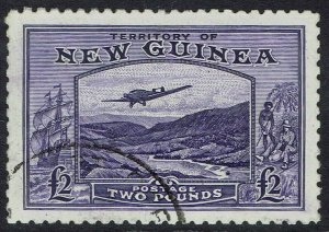 NEW GUINEA 1935 BULOLO AIRMAIL 2 POUNDS USED