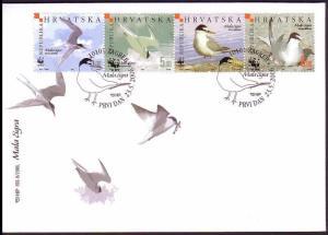 Croatia Birds WWF Little Tern FDC 2006 SG#854-857 MI#774-777 SC#621 a-d CV?5.50