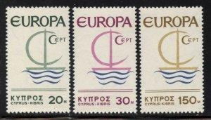 Cyprus 1966 Europa set Sc# 275-77 NH