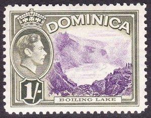 DOMINICA 1938 KGVI 1/- Violet & Olive-Green SG106 MH