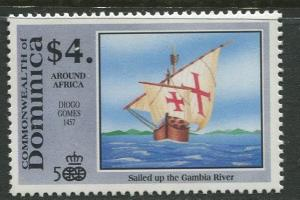 DOMINICA -Scott 1303 - Voyages of Discovery -1991 - MNH- Single $4.00c Stamp