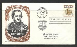 US #1118-8 Kossuth Cachet Craft Boll cachet U/A