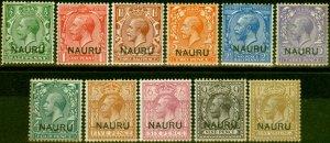 Nauru 1916-23 Set of 11 SG1-12 Fine Mtd Mint