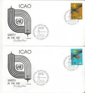 United Nations Geneva  77-8  FDC  ICAO Safety in the Air