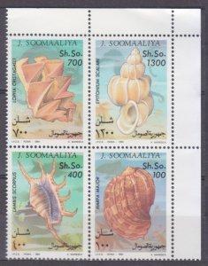 1994 Somalia 507-510VB Sea shells 11,00 €