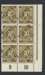 GERMANY - SOVIET ZONE  HARTHA BEZIRK 27  1948, 30pf BLOCK VF NH