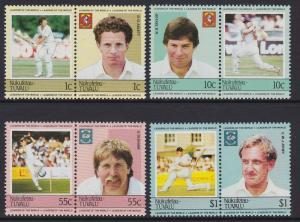 Tuvalu Nukufetau 1985 Cricket 20-23 MNH
