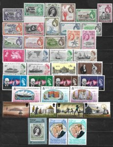 COLLECTION LOT OF 38 TRISTAN DA CUNHA 1952+ STAMPS