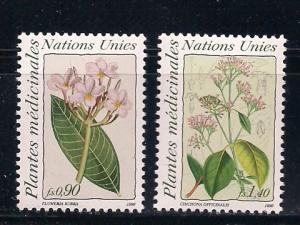 UN Geneva Sc#186 187 Medicinal Plants MNH