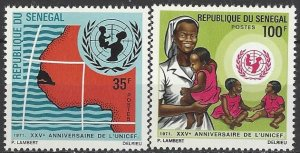 Senegal 352-3  MNH  UN UNICEF 25th Anniversary