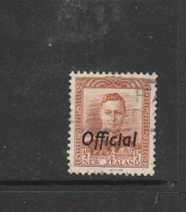 New Zealand Official 1938/51 1/2d Brown Lightly used SG O135