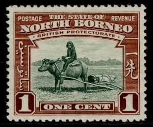 NORTH BORNEO GVI SG303, 1c green & red-brown, M MINT.
