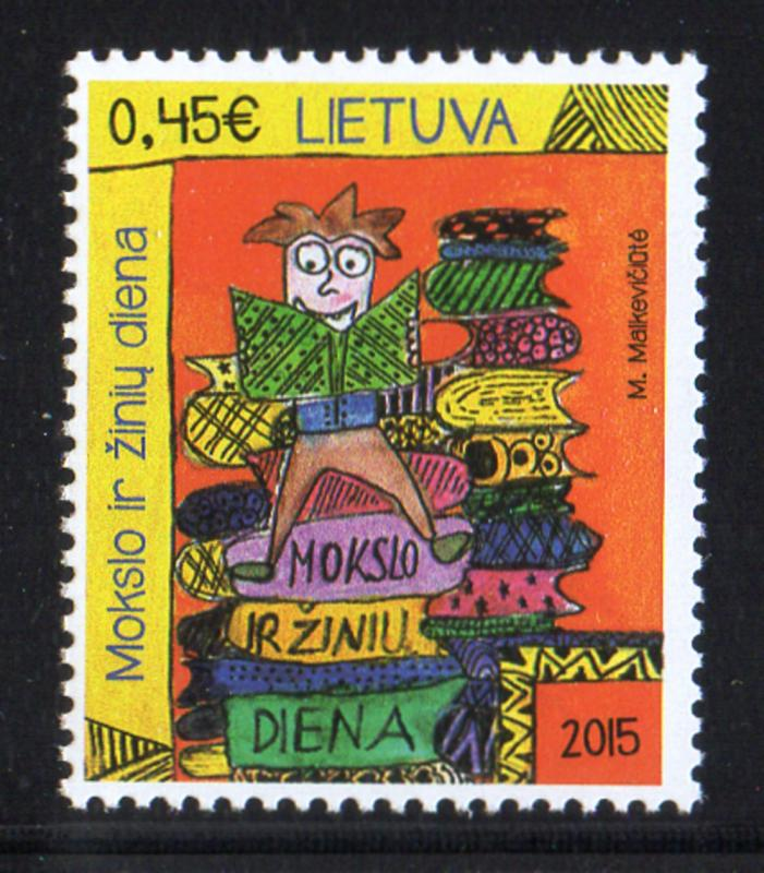 Lithuania Sc 1057 2015 Education & Knowledge Day stamp mint NH