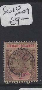 LEEWARD ISLANDS (P2305B)  QV SEXAGENARY  1D  SG 10  MOG