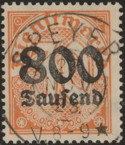 Stamp Germany Official Mi 095X Sc O36 1923 Dienst Reich Empire Inflation Used