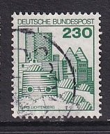Germany   #1242  used  1978  castles   230pf