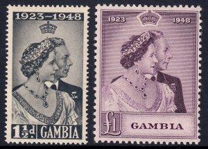 Gambia - Scott #146-147 - MH - Light gum toning - SCV $20.25
