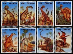HERRICKSTAMP GHANA Sc.# 1453-60 Dinosaurs