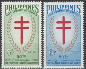 Philippines MNH 819-20 50th Anniversary Of TB Society