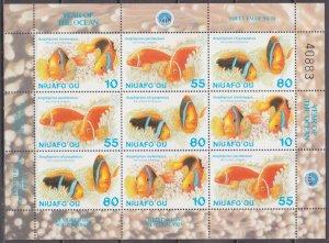 1998 Niuafo'ou 339-441KL Sea fauna 8,00 €