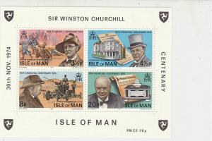 Isle of Man 1974 Sir Winston Churchill MNH Mini Stamps Sheet Ref 27099