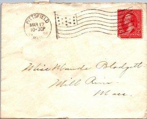 Pittsfield MA > Mill River MA 1901 flag cancel Blodgett