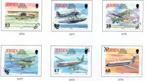 Jersey  Sc 1063-8 2003 100Yrs Powered Flight stamp set used