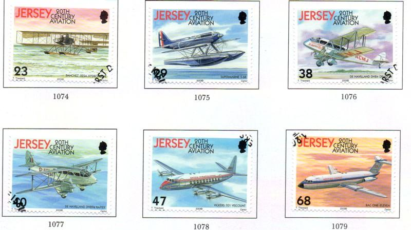 Jersey  Sc 1063-8 2003 100Yrs Powered Flight stamp set used