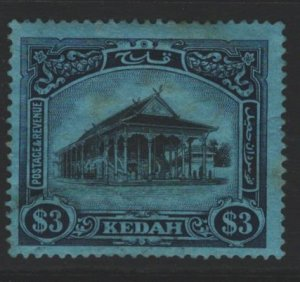 Kedah Sc#44 MH - few tone spots, minor creasing, pencil notation on reverse