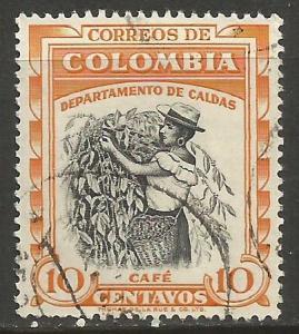 COLOMBIA 652 VFU COFFEE 656B