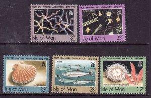 Isle of Man #509-513 MNH CV$4.30 Port Erin Star Scallop Herring Anemone