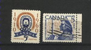 Canada  389-390 Complete set used PD 1960