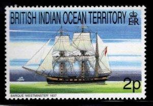 British Indian Ocean Territory BIOT Scott 207 MNH** Tall Ship Stamp