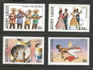 St. Lucia MNH 862-5 Song & Dance
