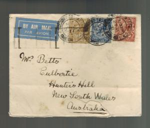 1931 England Airmail Cover to Hunters Hill Australia Imperial Airways