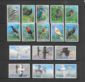BIRDS - SAMOA #725-40  MNH