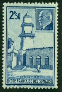Somali Coast 1941 #182 MH SCV(2018)=$0.80