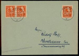 Germany Soviet Zone SBZ Thuringia Thueringen Imperforate Posthorn Stamp Co 63445
