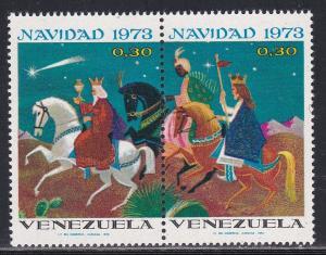 Venezuela MNH 1055a Christmas King Following Star 1973