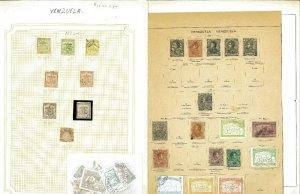 Venezuela 1882-1958 M & U Hinged on Old Blank Pages..