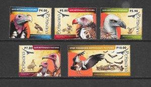 BIRDS - BOTSWANA #983-7  VULTURES   MNH