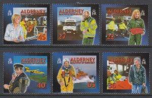 Alderney 196-201 MNH VF
