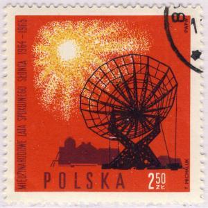POLOGNE / POLAND - 1965 - Mi.1609 2.50Zl International Quiet Sun Years - CTO