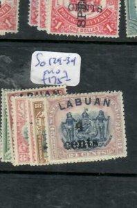LABUAN (PP1811B)    4C SURCHARGES  SG 129-134    MOG