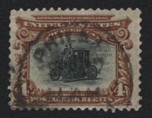 United States USED Scott Number 296 F-VF  -  BARNEYS
