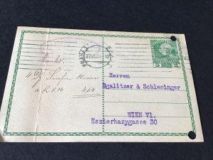 Prague 1909 to Wien stamps post card Ref R32000