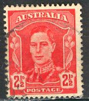 Australia 1942; Sc. # 194; O/Used Single Stamp